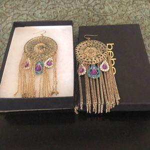 Bebe chandelier earrings